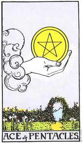 Ace of Coins original - The Pentacles (Coins) in the Tarot