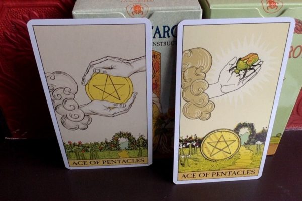 Ace of Pentacles Before After Tarot 600x400 - Ace of Pentacles in the Tarot
