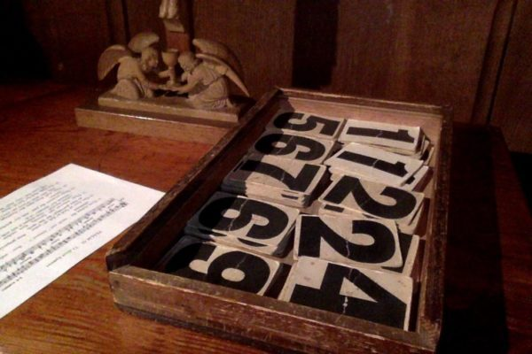 Bude church numbers JESSICA ADAMS PHOTOGRAPH 600x400 - Ace of Pentacles in the Tarot