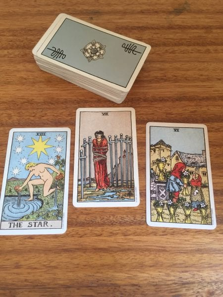 Meghan Past Present Potential Flow 450x600 - Home Astrology and Tarot Workshop Podcast