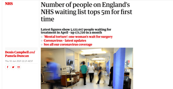 NHS Waiting List 600x307 - Astrology Predictions for the NHS